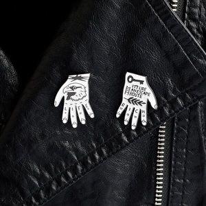 2pcs/set Super Cool Jail Life Enamel Pins